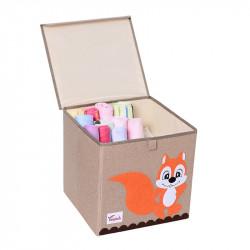 Складной ящик для игрушек с крышкой. Белка.