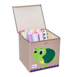 Складной ящик для игрушек с крышкой. Черепаха.