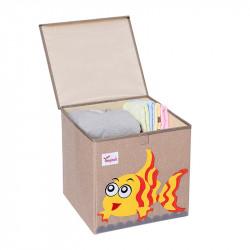 Складной ящик для игрушек с крышкой. Рыбка.