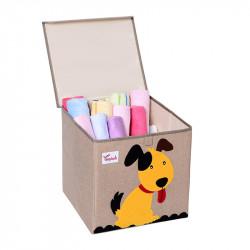 Складной ящик для игрушек с крышкой. Пес.