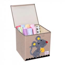 Складной ящик для игрушек с крышкой. Мышь.