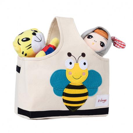 Сумка для игрушек с ручкой. Пчелка.