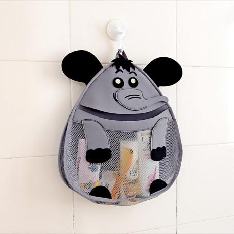 Подвесной органайзер в ванную для игрушек. Слоник.
