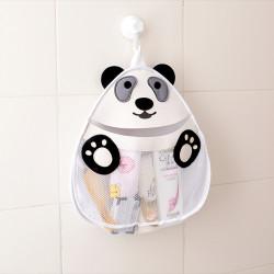 Подвесной органайзер в ванную для игрушек. Панда.
