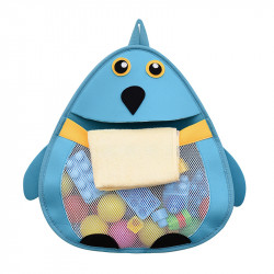 Подвесной органайзер в ванную для игрушек. Пингвин.