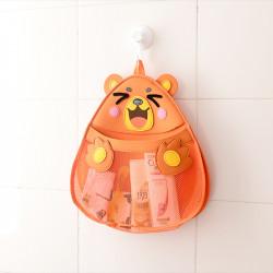 Подвесной органайзер в ванную для игрушек. Медведь.