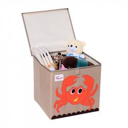 Складной ящик для игрушек с крышкой. Краб.