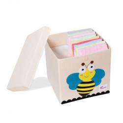 Складной ящик для игрушек со съемной крышкой. Пчела.