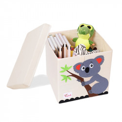 Складной ящик для игрушек со съемной крышкой. Коала.