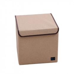 Складной ящик с крышкой. Бежевый.