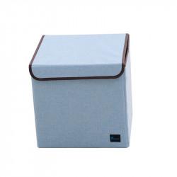 Складной ящик с крышкой. Голубой.