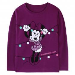 Кофта для девочки, фиолетовая. Минни Маус.