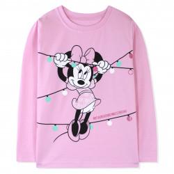 Кофта для девочки, розовая. Минни Маус.