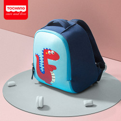 Детский рюкзак, синий. Дракоша. XL.