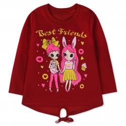 Кофта для девочки, красная. Лучшие подружки.