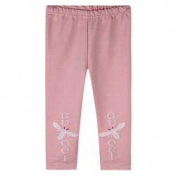 Леггинсы для девочки, розовые. Пчелка.