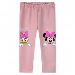 Леггинсы для девочки, розовые. Понка и Минни Маус.