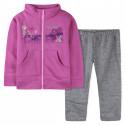 Спортивный костюм для девочки, розовый с серым.