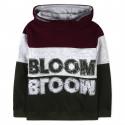 Джемпер с капюшоном, серый с оливковым. Bloom.