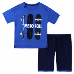 Костюм для мальчика, синий. Время кататься.