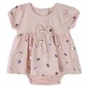 Боди-платье для девочки, розовое. Бантик.