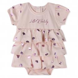 Боди-платье для девочки, розовое. Маленькая красотка.