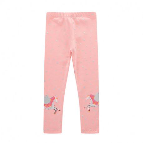 Леггинсы для девочки, розовые. Пегасы.