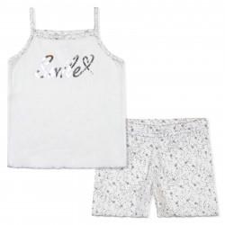 Пижама для девочки, белая. Звездочки.
