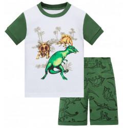 Пижама для мальчика, зеленая. Парк Юрского периода.