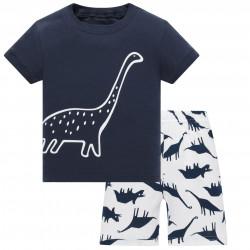 Пижама для мальчика, синяя. Диплодок.