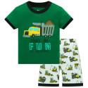 Пижама для мальчика, зеленая. Грузовик.