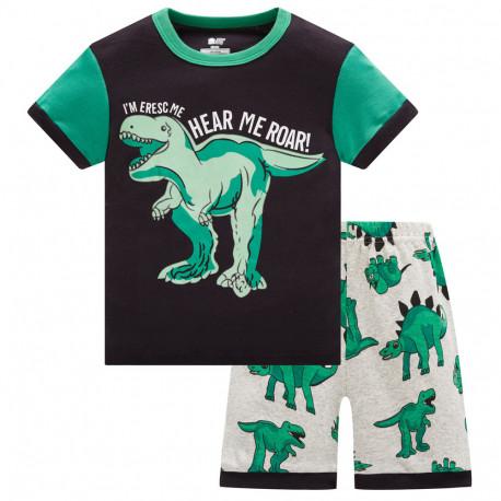 Пижама для мальчика, черная. Динозавр Рекс.