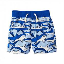 Шорты для мальчика, синие. Акулы.