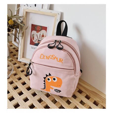 Детский рюкзак, розовый. Дино.