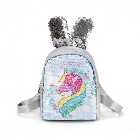 Рюкзак детский, с паетками перевертышами. Волшебный единорог.