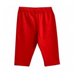 Бриджи для девочки, до колен, красные.