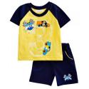 Комплект для мальчика, футболка и шорты, синий. Гонки.