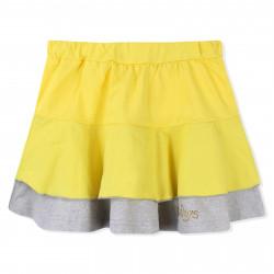 Юбка для девочки, желтая. Рюши.