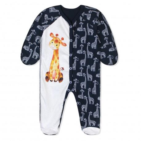Человечек для мальчика, синий. Милый жирафик.