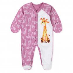 Человечек для девочки, розовый. Милый жирафик.