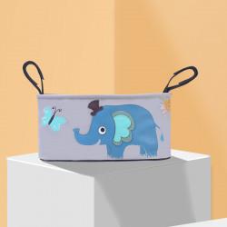 Сумка - багажник для коляски, карман на коляску. Слон.