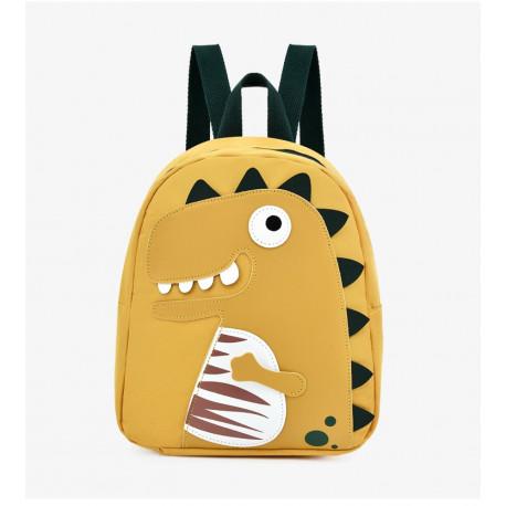 Детский рюкзак, желтый. Тираннозавр Рекс.