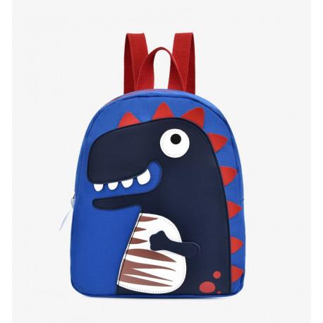 Детский рюкзак, синий. Тираннозавр Рекс.