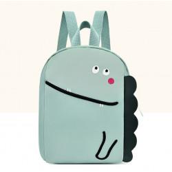 Детский рюкзак, мятный. Милый динозаврик.