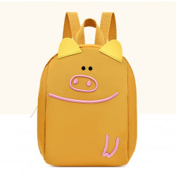 Детский рюкзак, желтый. Милый поросенок.