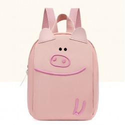 Детский рюкзак, розовый. Милый поросенок.