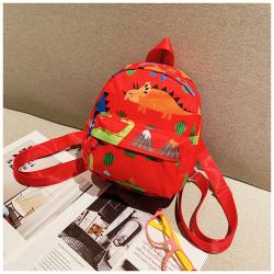 Мини-рюкзак , детский рюкзак, красный. Эра динозавров.