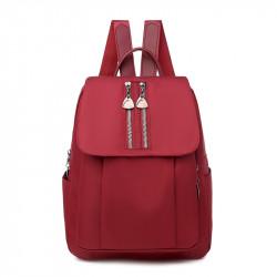 Рюкзак, красный. Стильные молнии.