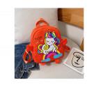 Детский рюкзак, оранжевый. Милый единорожек.