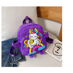 Детский рюкзак, фиолетовый. Милый единорожек.